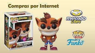 "Unboxing Mercado Libre ""Funko Pop Crash Flocked Game Stop Exclusive"""