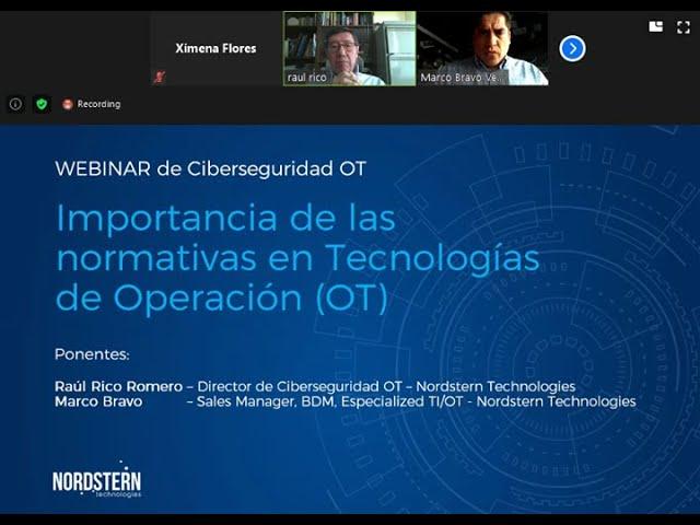 [Video] Webinar Importancia de las normativas en Tecnologías de Operaciones