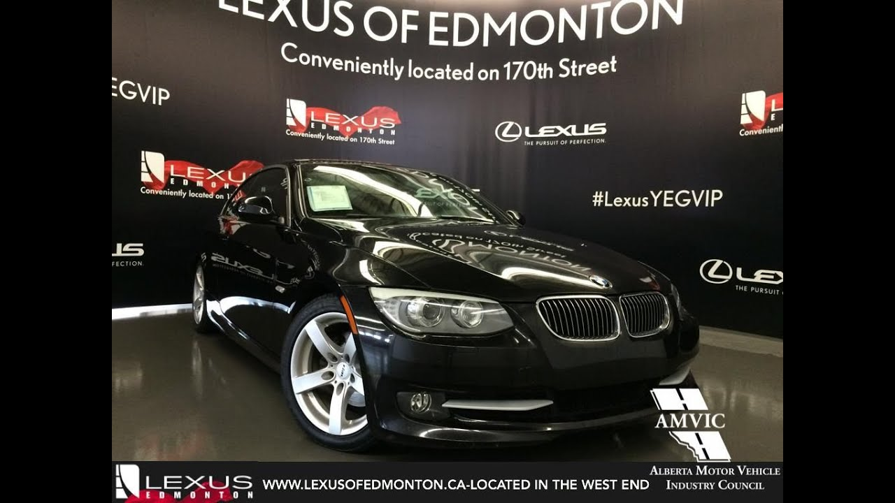 Used 2011 Black Bmw 3 Series Cabriolet 328i Rwd Walkaround Review Wetaskiwin Alberta
