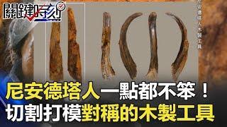 尼安德塔人一點都不笨!萬年前切割打模對稱的木製工具! 關鍵時刻 20180411-5 劉燦榮 王瑞德