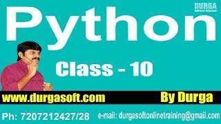 Learn Python Programming Tutorial Online Training by Durga Sir On 08-02-2018