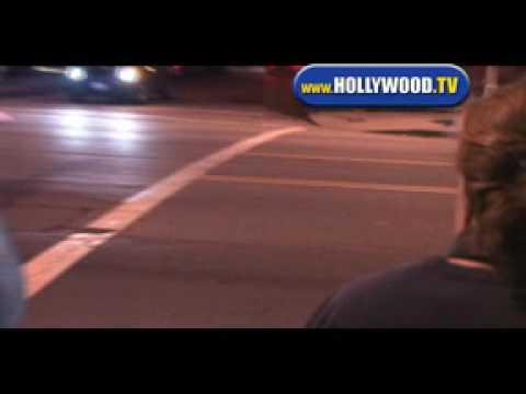 Kevin P. Farley Walking around Hollywood.