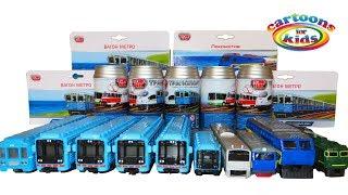 Вагон Метро 7й и игрушки машинки Городской транспорт. Железная дорога и поезда для детей. Metro