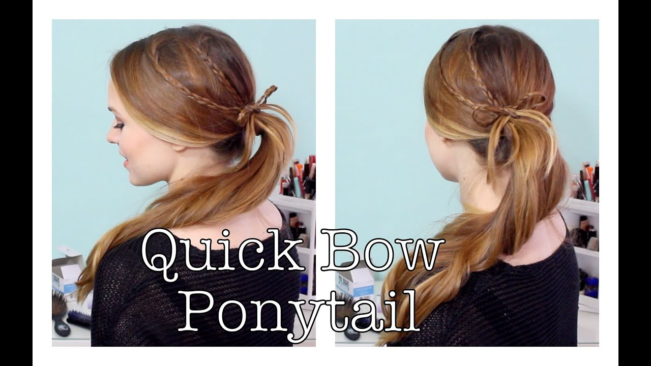 How to Do a Quick Braided Bow Ponytail