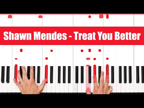 Treat You Better Shawn Mendes Piano Tutorial  EASY