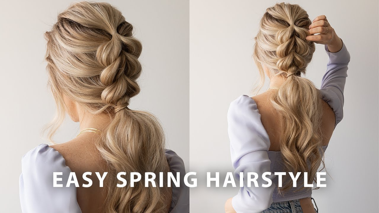 9 Easy Hairstyles You Can Do Fast   Quick DIY Hairstyles 9