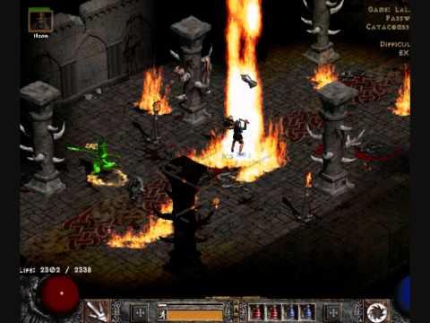 【Diablo II】 - Fire Sorceress - YouTube
