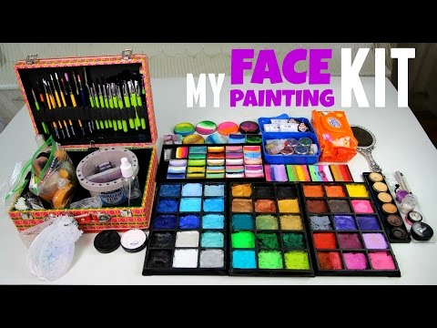 My Face Painting Set UP — Paints, Brushes, Workplace Organizing