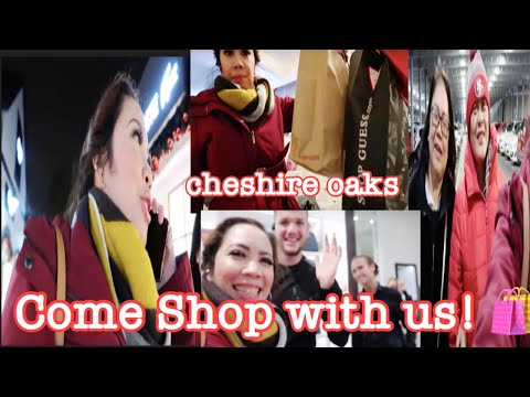 SHOP WITH US! CHESHIRE OAKS DESIGNER OUTLET NIGHT SALE | GELF8HVLOG