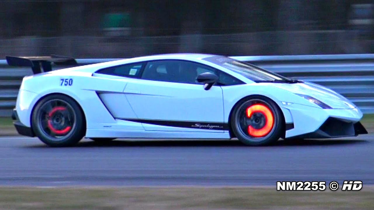 Modified Lamborghini Gallardo LP570 Glowing Brakes on Track!