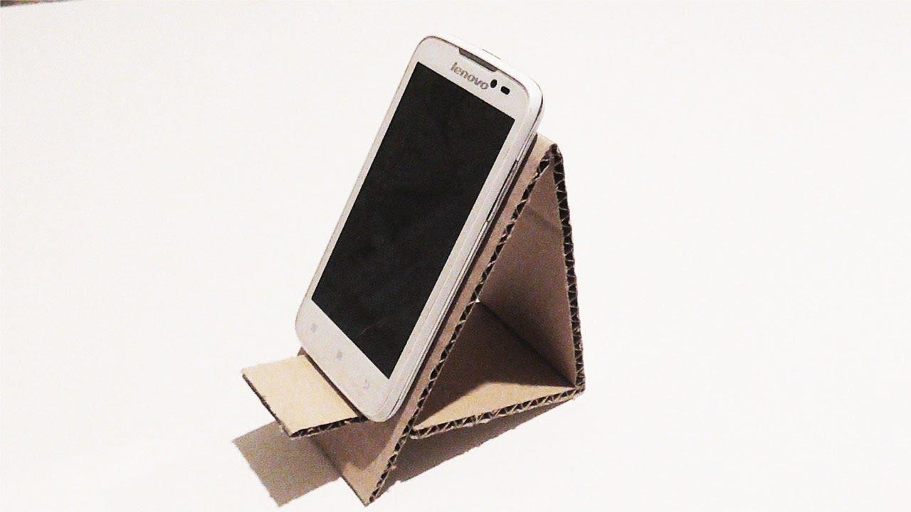 Подставка под телефон своими руками картон
