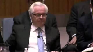 Чуркин шатает Американцев на заседании ООН украина новости сегодня