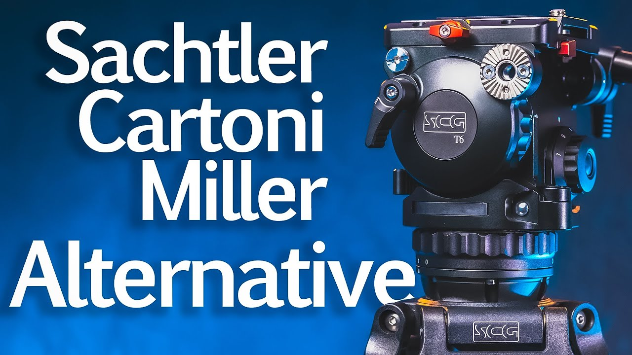 Sachtler Manfrotto Alternative - SCG T6CF Fluid Head Video Tripod System