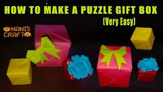 HOW TO MAKE A PUZZLE GIFT BOX || VERY EASY || Naniscraft