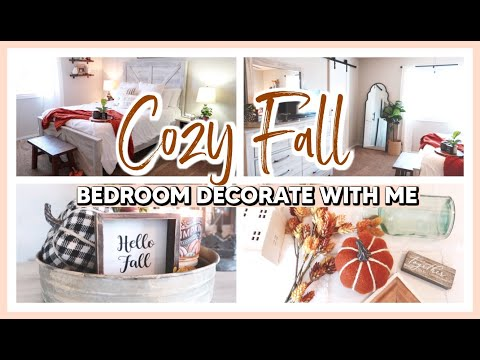 cozy-fall-master-bedroom-clean-&-decorate-with-me-2020-|-modern-farmhouse-fall-bedroom-decor-ideas
