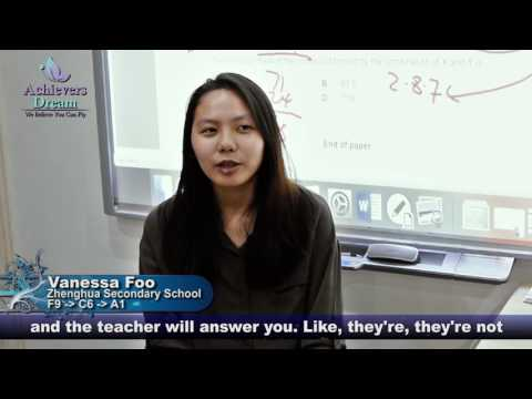 'O' & 'A' Level Chemistry Tuition in Singapore - Vanessa Foo's Testimonial