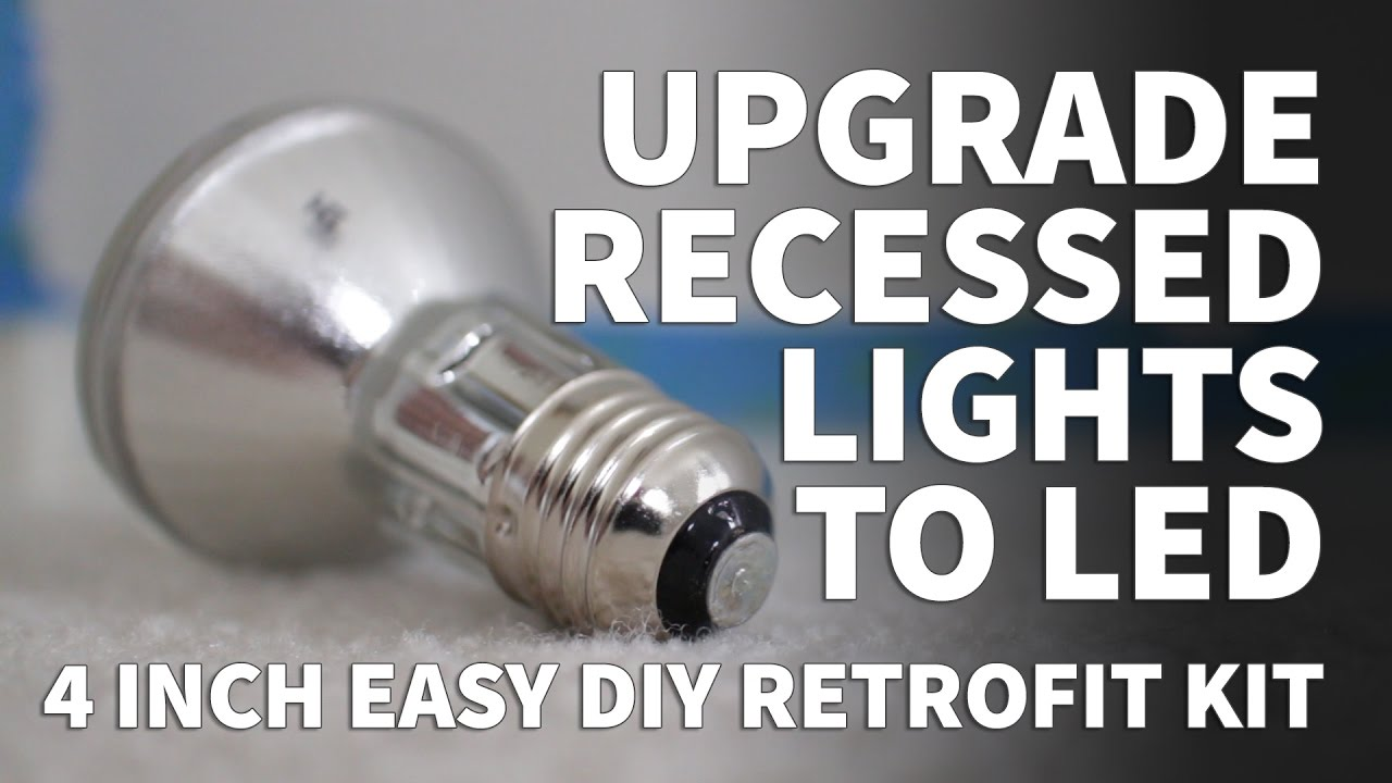 How To Install Retrofit Led Lights 4 Inch Kit Dimmable Recessed Lighting Sunco 3000k 5000k