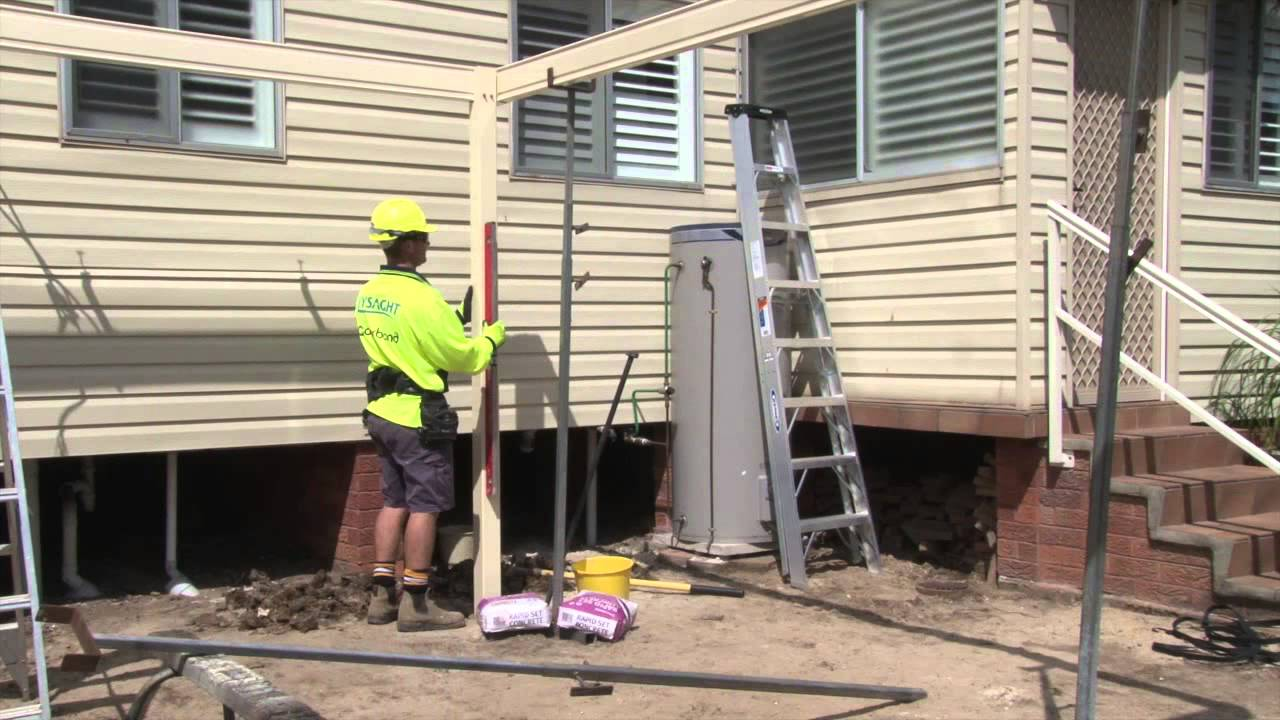 Free Standing Pitched Roof Structure Carport Youtube