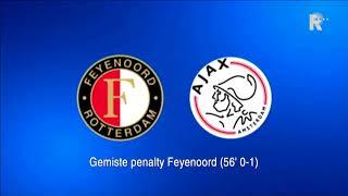 Zo klonk Feyenoord-Ajax (1-4) op Radio Rijnmond