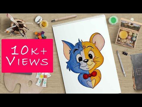 how-to-draw-tom-&-jerry---step-by-step-#cartoon