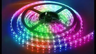 RGB светодиодная лента - Обзор(Обзор моего надвнего приобретения ленты RGB 5050., 2013-12-06T08:04:31.000Z)