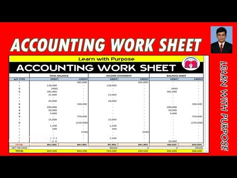 HOW TO CREATE  ACCOUNTING WORKSHEET WITH EXCEL AUTOMATIC STEP BY STEP ||URDU.HINDI