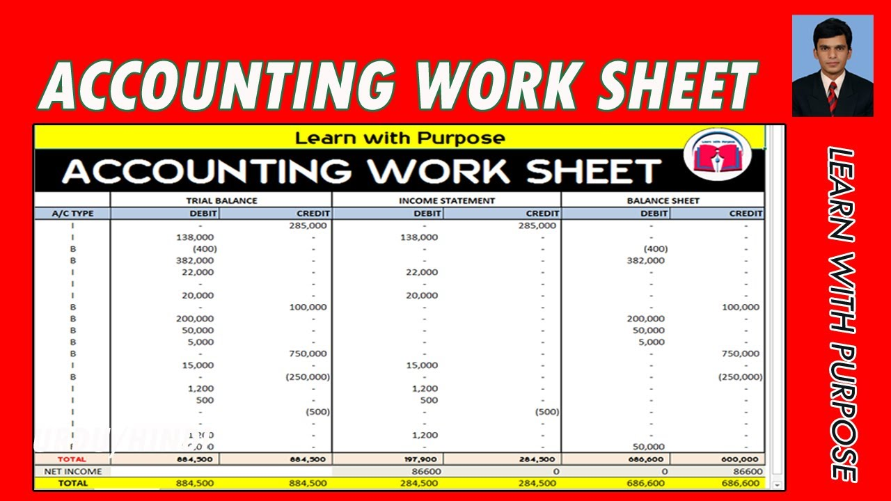 How To Create Accounting Worksheet With Excel Automatic