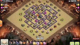 How to 3 star this popular town hall 9 base in clan wars with GoWiPe!!  clash of clans