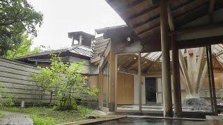 湯布院亀の井別荘で温泉三昧