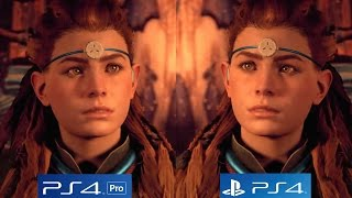 Horizon Zero Dawn PS4 PRO vs PS4 Graphics Comparison - The Best Looking Open World Game This Gen