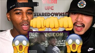 FUNNIEST STAREDOWNS IN MMA AND BOXING | REACTION