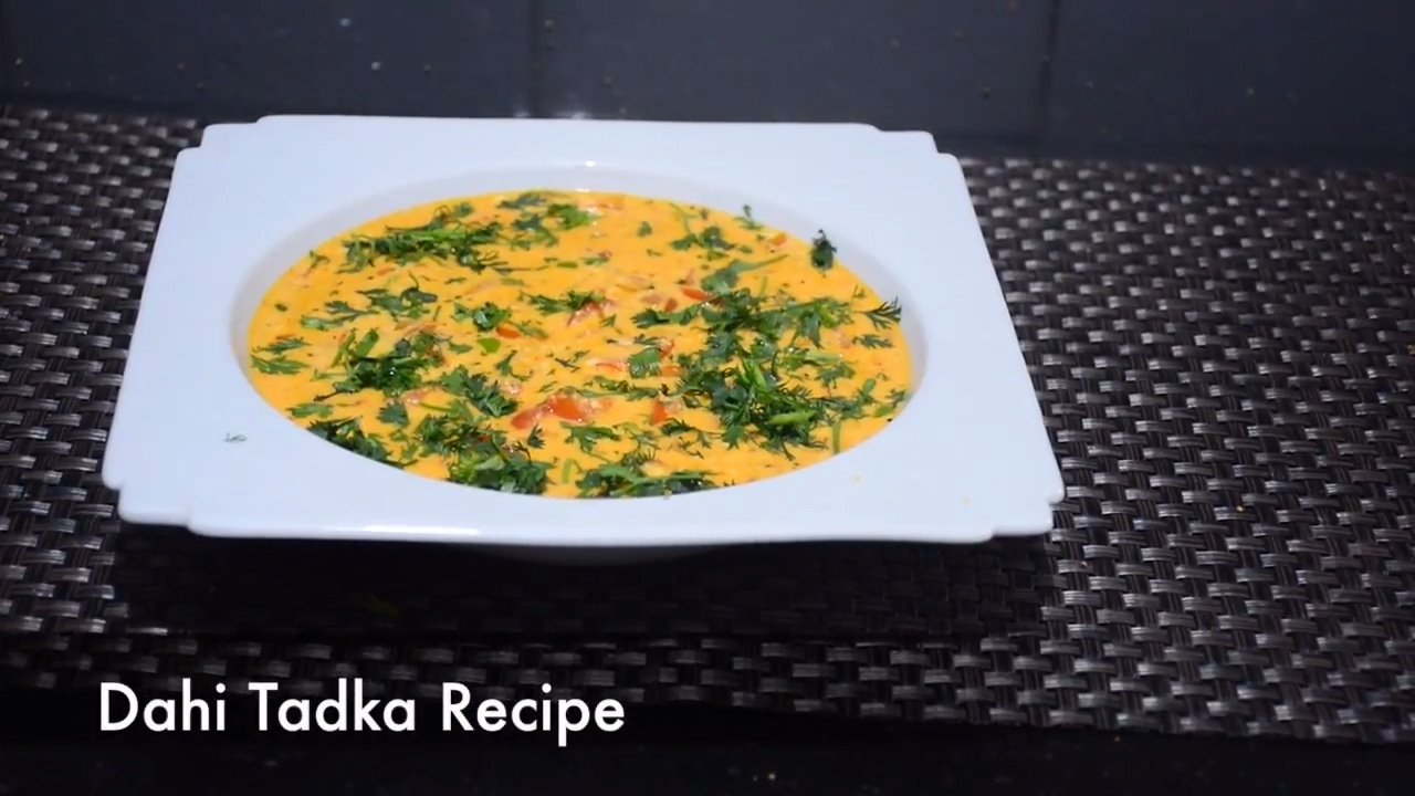 how to make tadka dahi