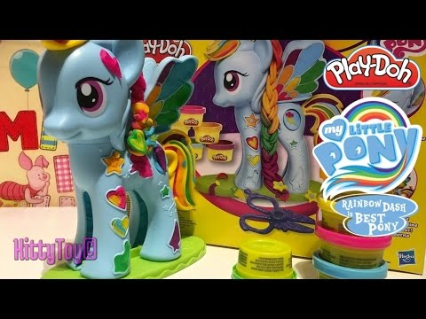 Play-Doh My Little Pony Rainbow Dash Style Salon Playset Review 2016