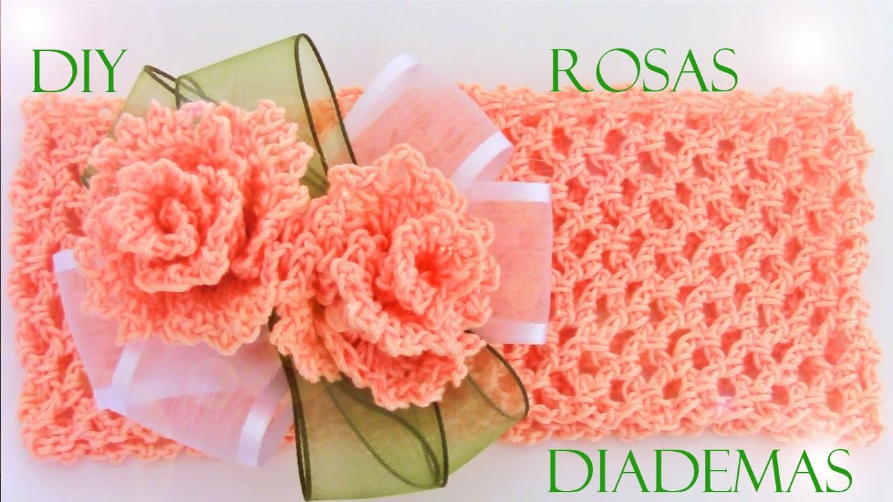 Rosas a crochet - how to crochet roses - YouTube