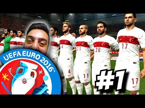 PES EURO 2016 Türkiye   Cok gercekci, süper yapilmis   1.Bölüm   Ps4