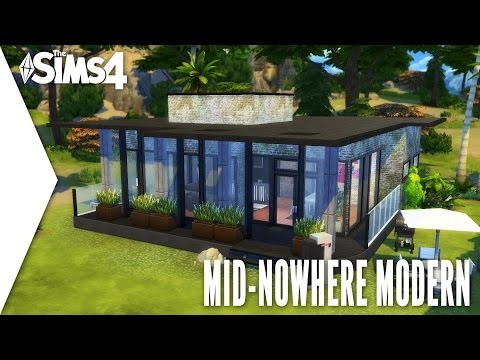 THE SIMS 4 SPEED BUILD #153 - MID-NOWHERE MODERN