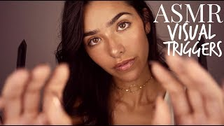 ASMR Visual Triggers for Sleep (Face touching, Face Brushing, Hand movements, Light, Cottons..)