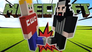 MAKE GIANT SPY NINJA KICK BUMP IN MINECRAFT WITH THE MEG AND MO SHOW! (CWC BUILDING TUTORIAL)