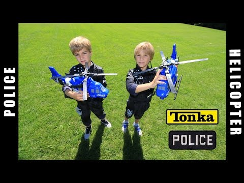 Tonka Police Helicopter Toys!!! Try and catch me ;)