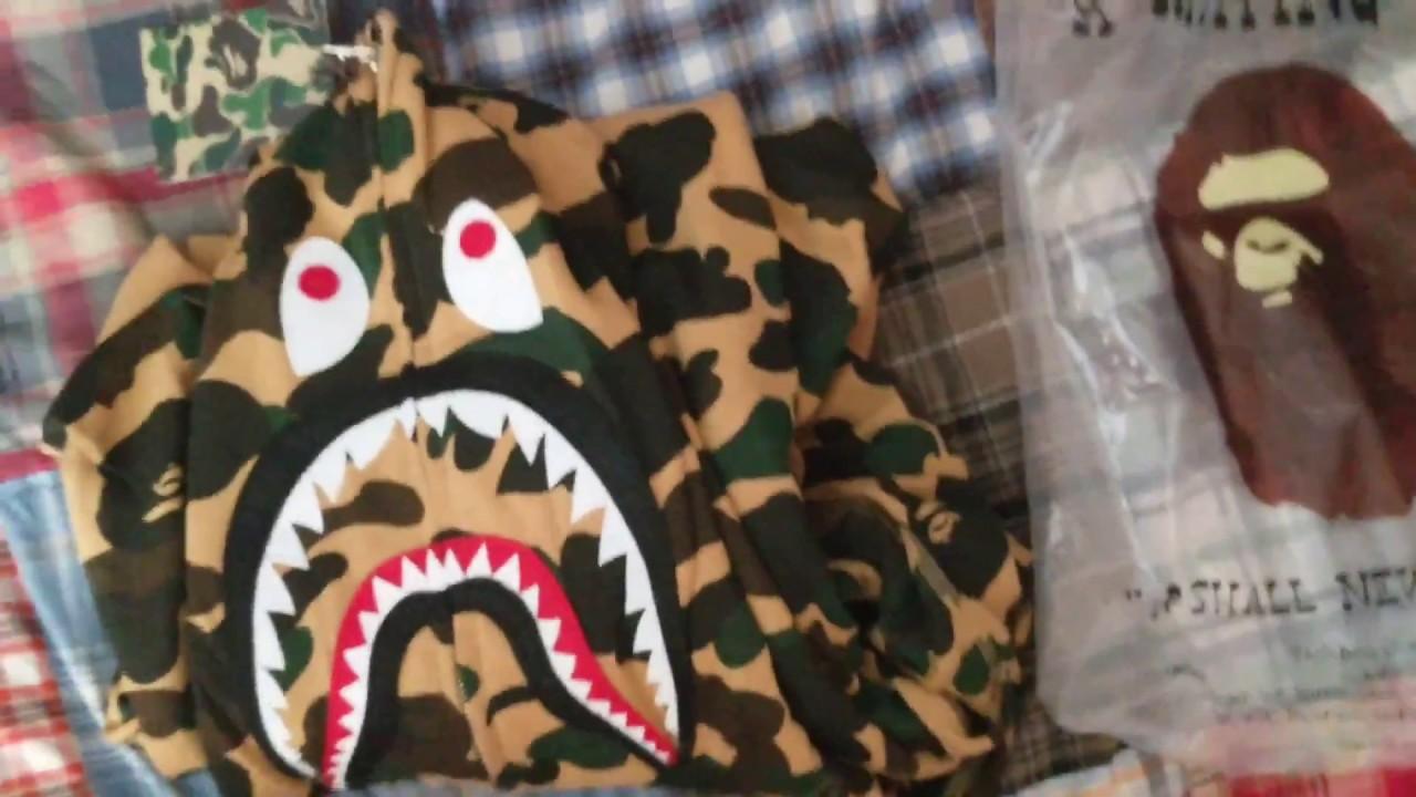 dc5e9a8452cd Bape Yellow Camo Shark Hoodie Review (UNHS) - YouTube