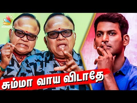 Tamilrockers or Vishal : Whom do you appreciate? : Radha ravi Interview   Producer Council Issue