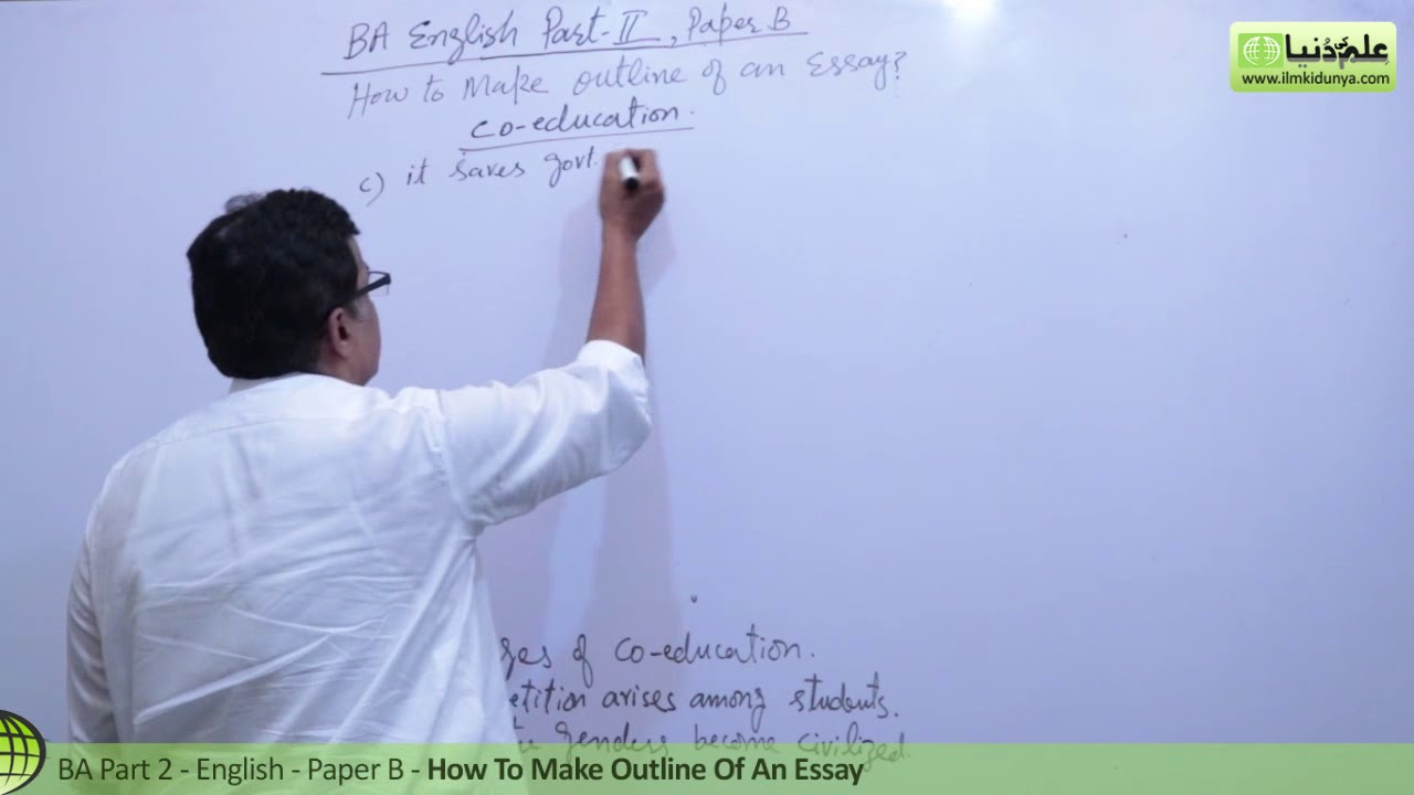 A English Essay Writing How To Make An Outline  Ba English Th  A English Essay Writing How To Make An Outline  Ba English Th Year   Punjab Unisargodha Uni