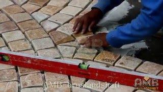 видео Укладка гранитной брусчатки: технология работы