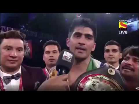 Vijender Singh Interview after fighting with Chinese Boxer Zulfikar