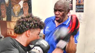 Floyd Mayweather Sr. FULL TRAINING SESSION with talented amateur
