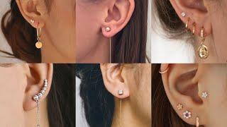 top 15 unique earrings 2020// Earrings for women // modern Silver star hoops // earrings for girls