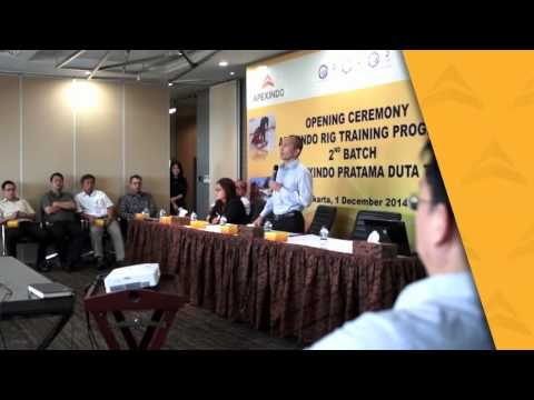 Welcoming Ceremony of 2nd Batch Trainee of Apexindo Rig Training Program