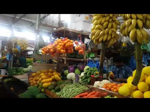 Local vegetable and fruit market (Traveller's Market) in Male' city, Maldives