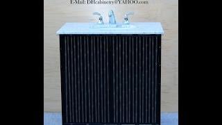 Modern Bathroom Vanity | Modern Black Bathroom Vanity | Moder Bamboo Bathroom Vanity 22 30 36