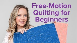 3 Free-Motion Quilting Designs for Beginners   Beginner Quilting Series with Angela Walters